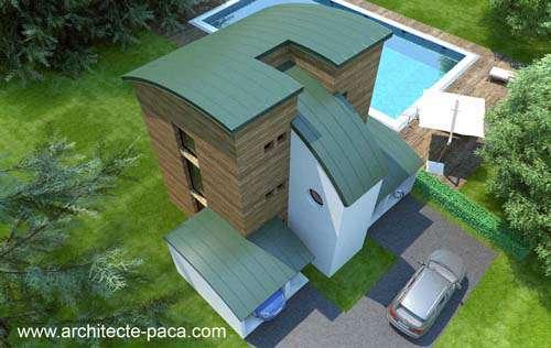 Dessiner un plan de maison bois exemples de maisons bois ou ossature bois d 39 architecte - Maison d architecte moderne ...