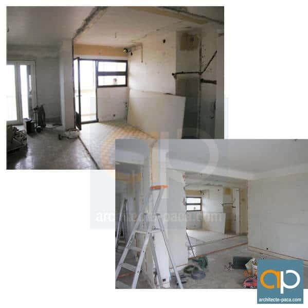 Chantier renovation appartement marseille architecte for Appartement design marseille