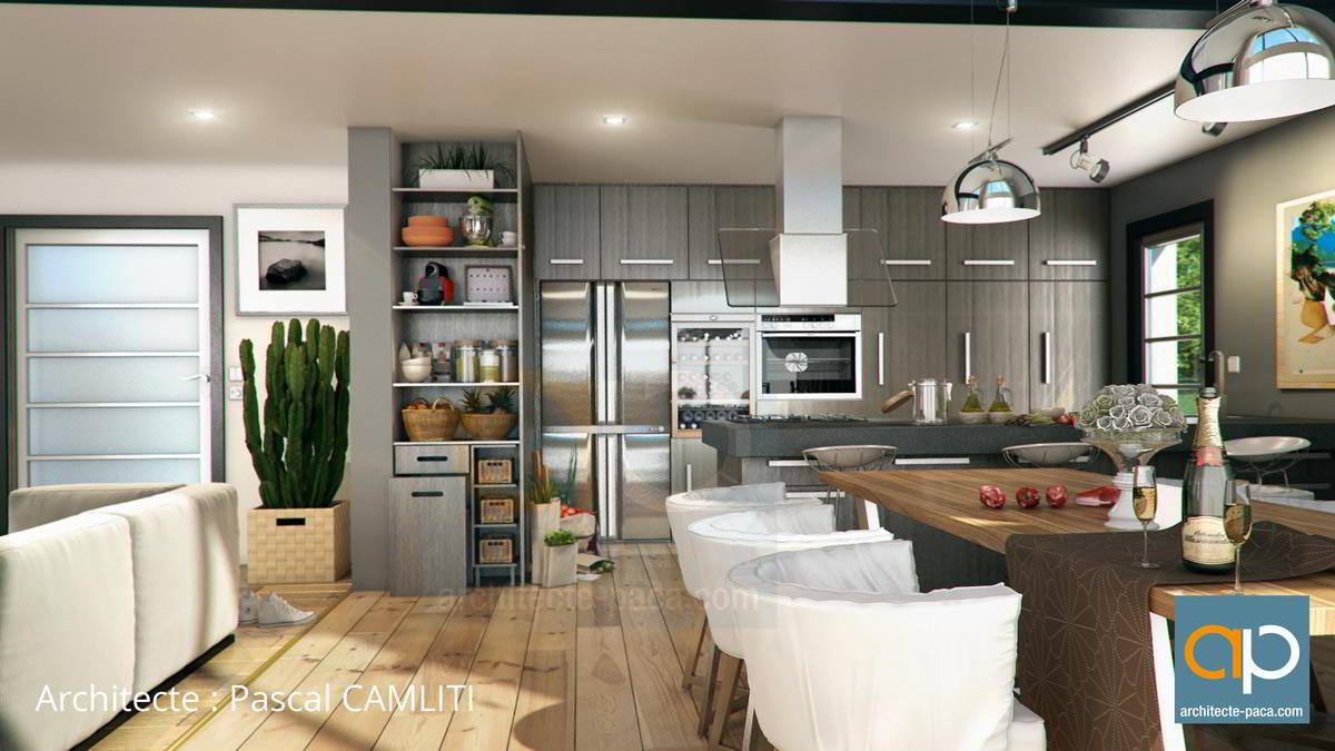 Charmant Cuisine D Ete Exterieur #3: Cuisine-architecte-maison-contemporaine.jpg
