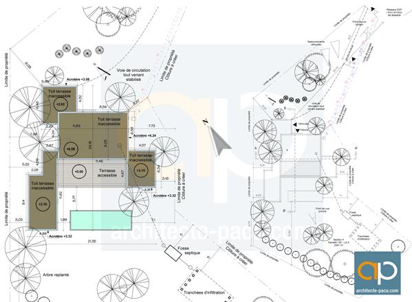 plan-de-masse-maison-contemporaine-Marseille
