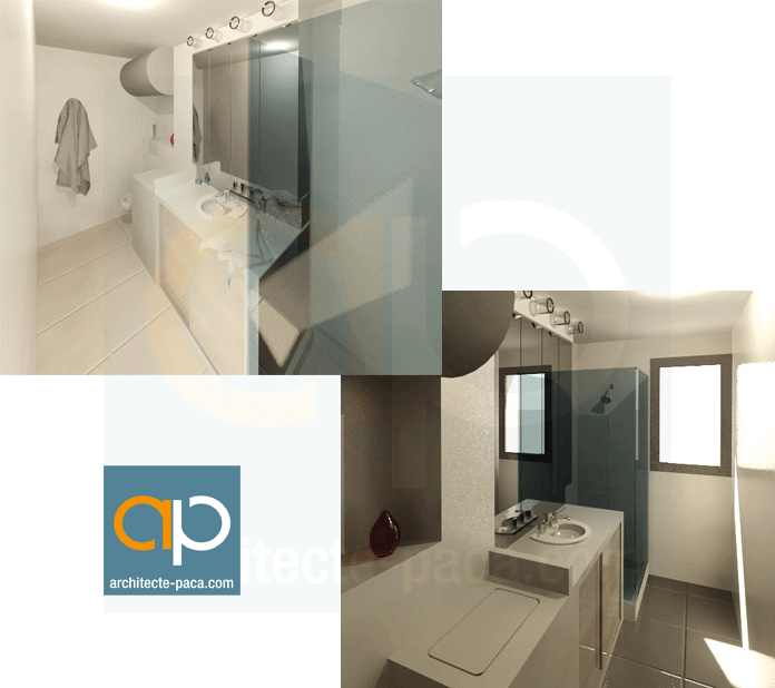 Renovation salle de bain architecte rendu 3d architecte for Renovation salle de bain marseille