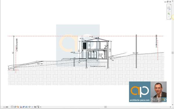 plan-architectural-maison-coupe