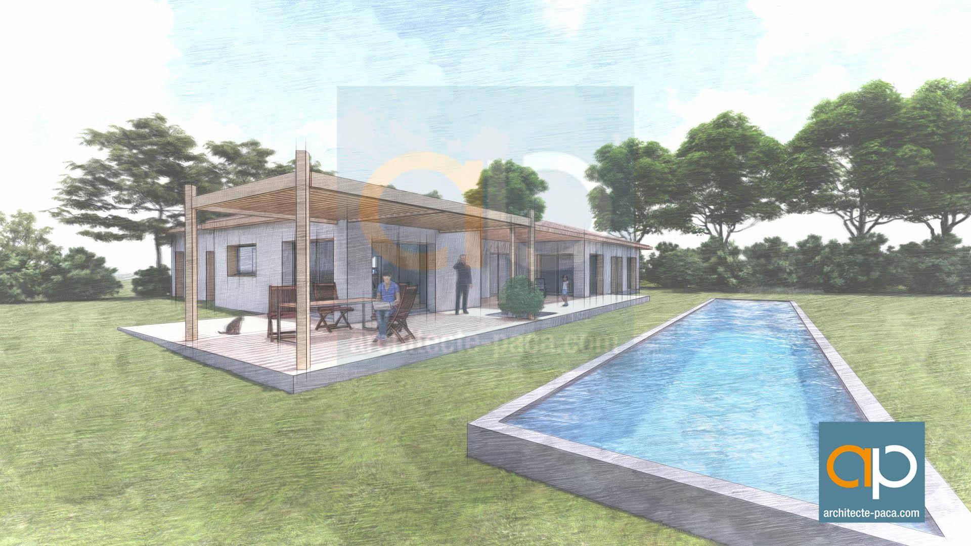 Maison contemporaine architecte paca camliti architecte for Architecte toulouse maison contemporaine