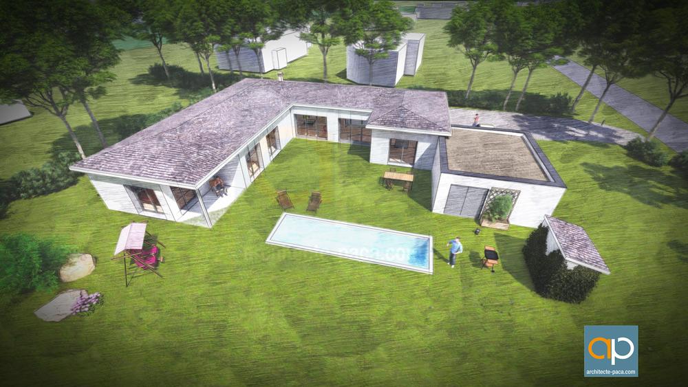 Maison contemporaine d'architecte à Couffouleux
