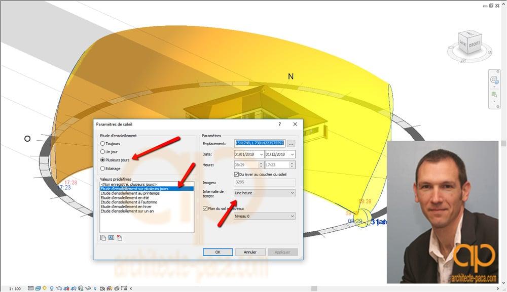 Etude-ensoleillement-REVIT-parametre-soleil