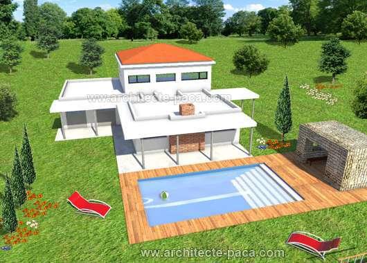 Maison avec Patio intérieur d'architecte