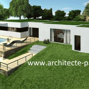 Maison contemporaine d'aspect MANGA