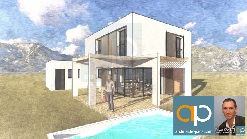 Maison Moderne Pergola Bioclimatique Plan N 173