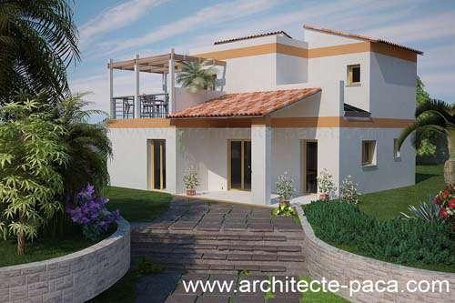 Plan de maison moderne de type 3 de 110M² ( Plan N° 112)
