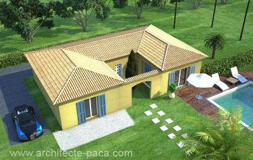 Plan De Maison En U Type 4 98 M Plan N 113