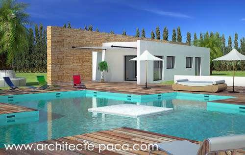 Maison contemporaine sobre à toit plat