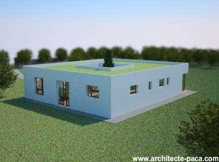 Plan Maison Avec Patio De 5 Pieces 129 M Plan N 130 Architecte Paca L Architecture Sous Toutes Les Coutures