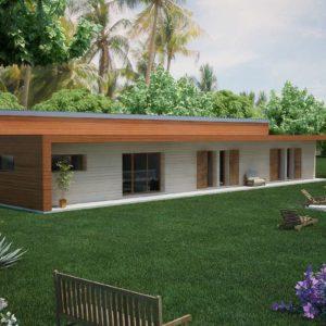 Maison bois d'architecte de plain pied