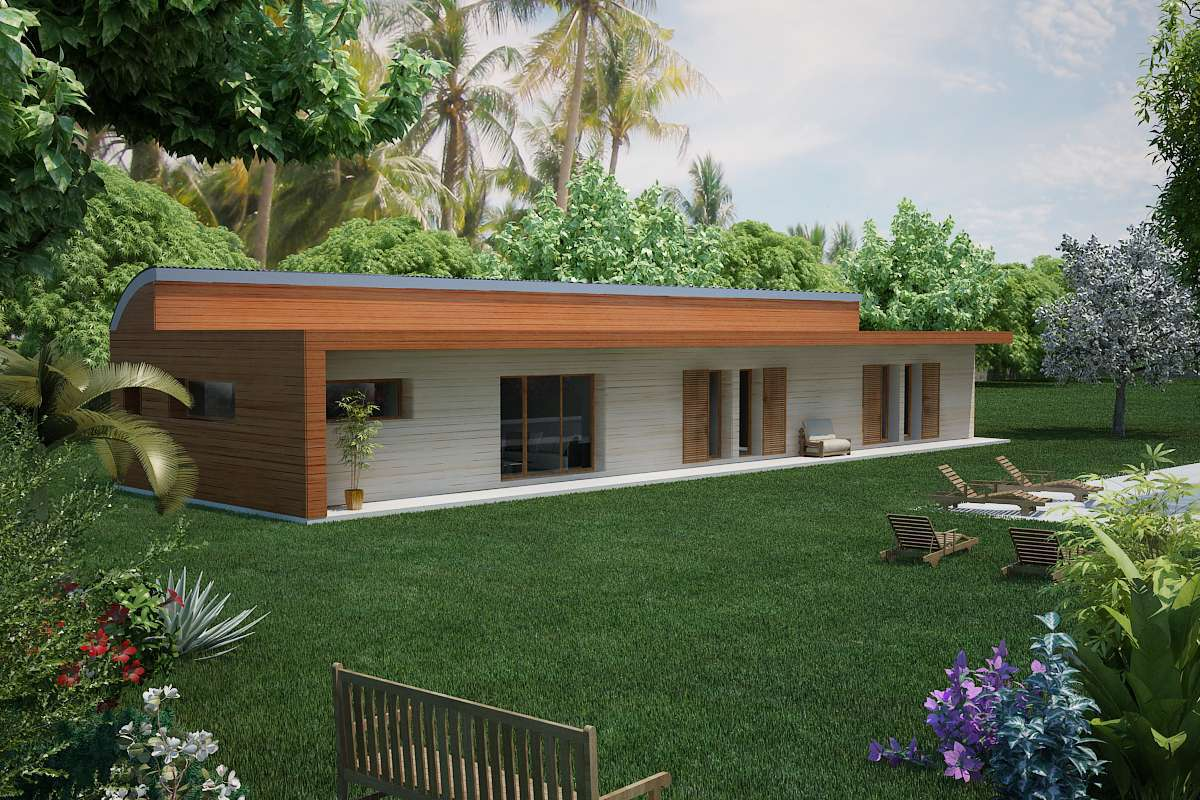 Plan De Maison Bois Type 4 Pieces Villa Plan N 145 Architecte Paca L Architecture Sous Toutes Les Coutures