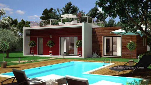 Maison moderne d'architecte en BOIS