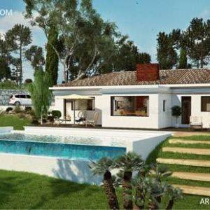 Maison contemporaine avec toiture tuiles
