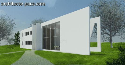 Plan de maison 122 - Étroite à toit plat