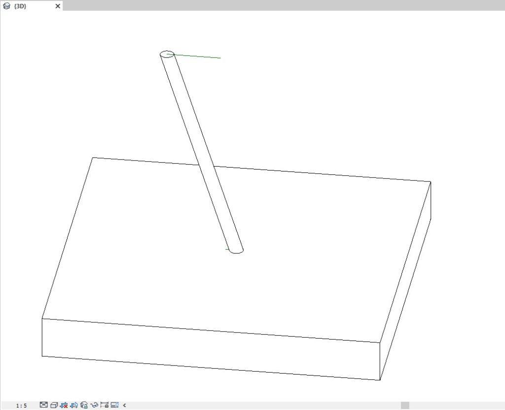 Poteau incliné paramétrique