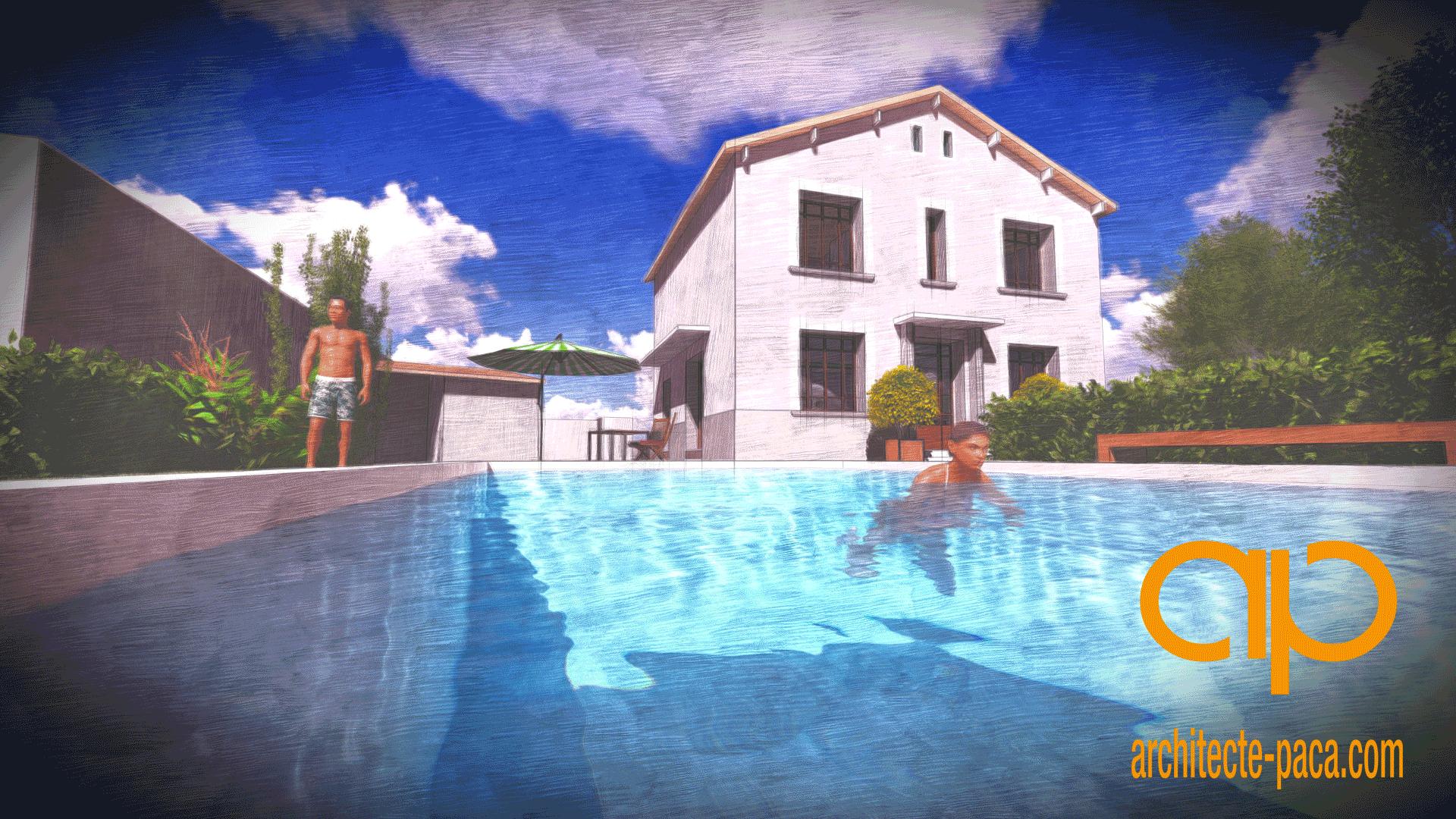 Construire une piscine avec un architecte