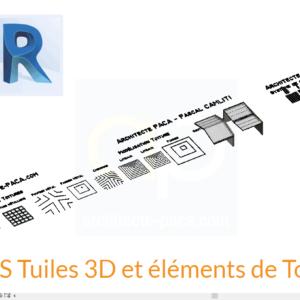Tuiles 3D REVIT - famille de toitures