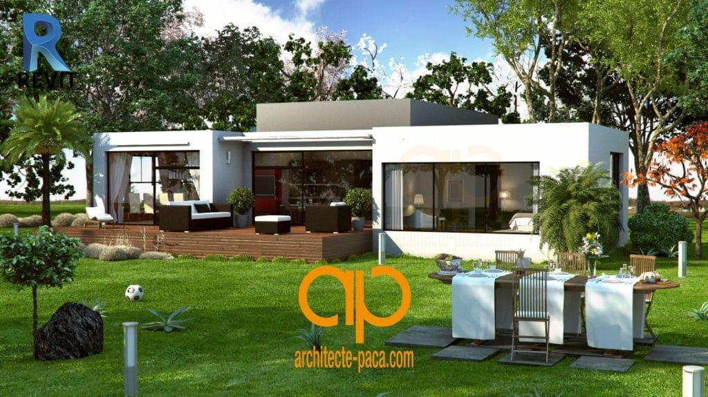 Plan 3D facile avec logiciel d'architecture